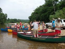 Click to enlarge image  - Group Canoe Trip -